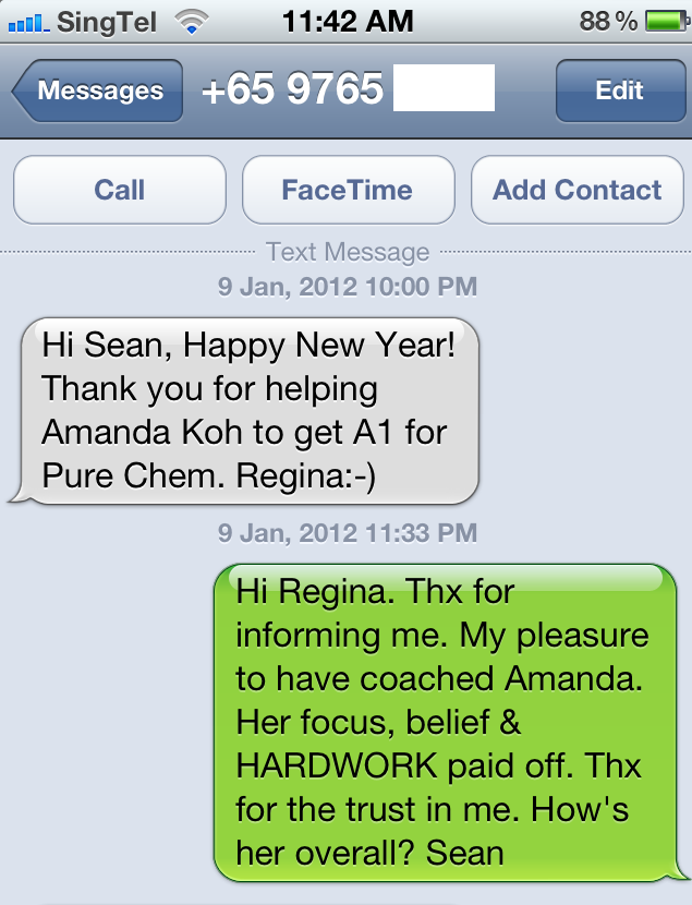Amanda Koh Mother Testimonial